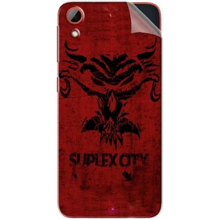 Snooky Printed Suplex City Pvc Vinyl Mobile Skin Sticker For HTC Desire 628