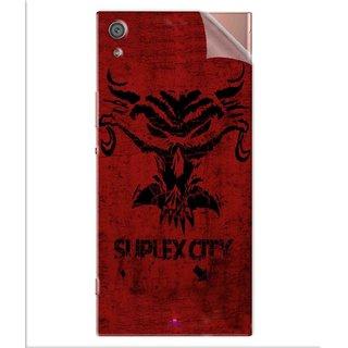 Snooky Printed Suplex City Pvc Vinyl Mobile Skin Sticker For Sony Xperia x1a Ultra