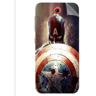 Snooky Printed Captain American Shield Pvc Vinyl Mobile Skin Sticker For Htc Desire 620