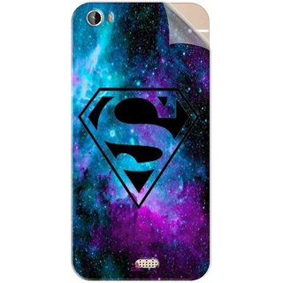 Snooky Printed Superman Fondos Pvc Vinyl Mobile Skin Sticker For Intex Aqua Turbo 4G