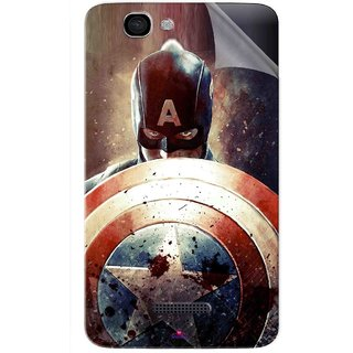 Snooky Printed Captain American Shield Pvc Vinyl Mobile Skin Sticker For Micromax Canvas 2 A120