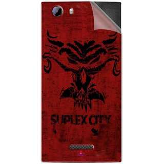 Snooky Printed Suplex City Pvc Vinyl Mobile Skin Sticker For Micromax Canvas Play 4G Q469