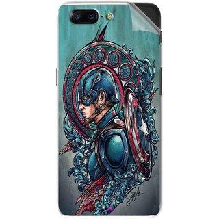 Snooky Printed Captain Ameria Avenger Pvc Vinyl Mobile Skin Sticker For OnePlus 5
