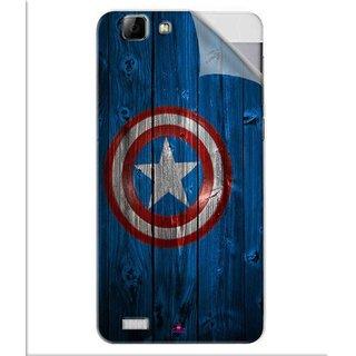 Snooky Printed Captain America Logo Pvc Vinyl Mobile Skin Sticker For Vivo V1