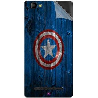 Snooky Printed Captain America Logo Pvc Vinyl Mobile Skin Sticker For LYF Wind 7