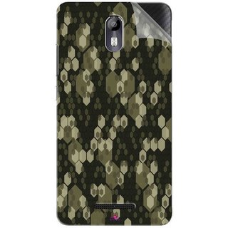 Snooky Printed Camouflage Camo patterns Pvc Vinyl Mobile Skin Sticker For Micromax Canvas Evok E483