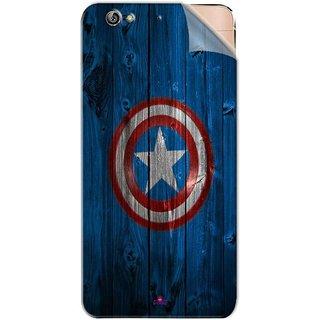 Snooky Printed Captain America Logo Pvc Vinyl Mobile Skin Sticker For Gionee Elife S6