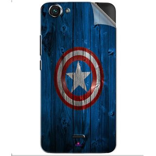 Snooky Printed Captain America Logo Pvc Vinyl Mobile Skin Sticker For Micromax Bolt Q338