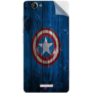 Snooky Printed Captain America Logo Pvc Vinyl Mobile Skin Sticker For Gionee M2