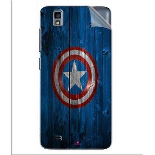 Snooky Printed Captain America Logo Pvc Vinyl Mobile Skin Sticker For Gionee Pioneer P2M