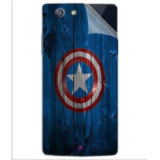 Snooky Printed Captain America Logo Pvc Vinyl Mobile Skin Sticker For Oppo A31T