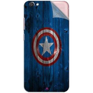 Snooky Printed Captain America Logo Pvc Vinyl Mobile Skin Sticker For Vivo V5