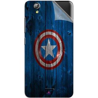 Snooky Printed Captain America Logo Pvc Vinyl Mobile Skin Sticker For Gionee Pioneer P5 mini