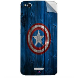 Snooky Printed Captain America Logo Pvc Vinyl Mobile Skin Sticker For Gionee CTRL V6L