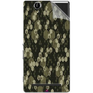 Snooky Printed Camouflage Camo patterns Pvc Vinyl Mobile Skin Sticker For Sony Xperia T2 Ultra