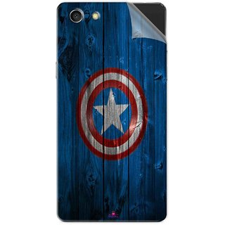Snooky Printed Captain America Logo Pvc Vinyl Mobile Skin Sticker For Oppo A33T