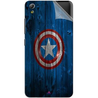 Snooky Printed Captain America Logo Pvc Vinyl Mobile Skin Sticker For Gionee Pioneer P6