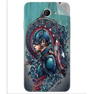 Snooky Printed Captain Ameria Avenger Pvc Vinyl Mobile Skin Sticker For Htc Desire 516