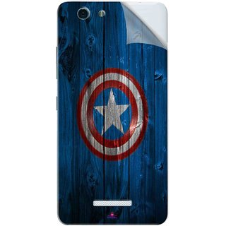 Snooky Printed Captain America Logo Pvc Vinyl Mobile Skin Sticker For Gionee S Plus