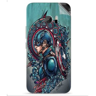 Snooky Printed Captain Ameria Avenger Pvc Vinyl Mobile Skin Sticker For HTC One M10