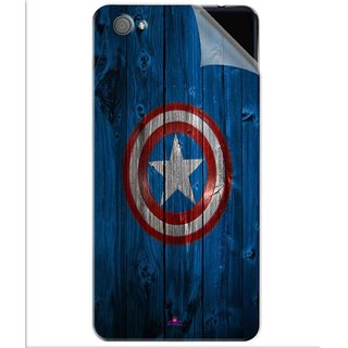Snooky Printed Captain America Logo Pvc Vinyl Mobile Skin Sticker For Vivo X5 Pro