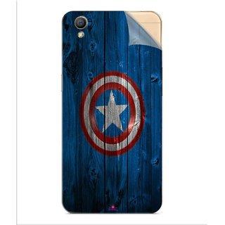 Snooky Printed Captain America Logo Pvc Vinyl Mobile Skin Sticker For Oppo A37