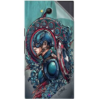 Snooky Printed Captain Ameria Avenger Pvc Vinyl Mobile Skin Sticker For LYF Wind 4