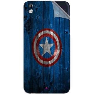 Snooky Printed Captain America Logo Pvc Vinyl Mobile Skin Sticker For HTC Desire 816