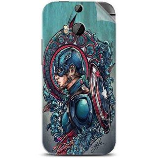 Snooky Printed Captain Ameria Avenger Pvc Vinyl Mobile Skin Sticker For Htc One M8