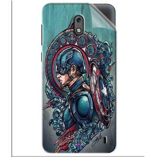 Snooky Printed Captain Ameria Avenger Pvc Vinyl Mobile Skin Sticker For Nokia 2