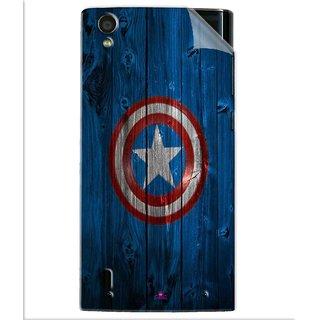 Snooky Printed Captain America Logo Pvc Vinyl Mobile Skin Sticker For Vivo Y15