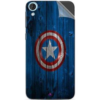 Snooky Printed Captain America Logo Pvc Vinyl Mobile Skin Sticker For HTC Desire 820