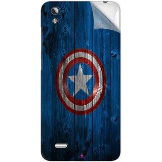Snooky Printed Captain America Logo Pvc Vinyl Mobile Skin Sticker For Vivo Y17
