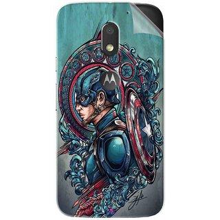 Snooky Printed Captain Ameria Avenger Pvc Vinyl Mobile Skin Sticker For Motorola Moto E3