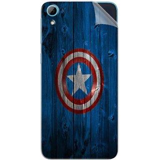 Snooky Printed Captain America Logo Pvc Vinyl Mobile Skin Sticker For HTC Desire 826