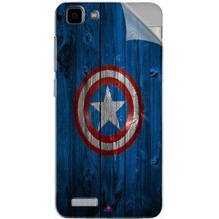 Snooky Printed Captain America Logo Pvc Vinyl Mobile Skin Sticker For Vivo Y27L