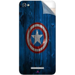 Snooky Printed Captain America Logo Pvc Vinyl Mobile Skin Sticker For Micromax Canvas Hue 2
