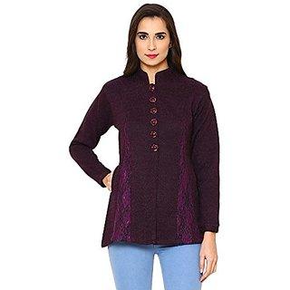 Matelco Woollen Purple Buttoned Cardigans