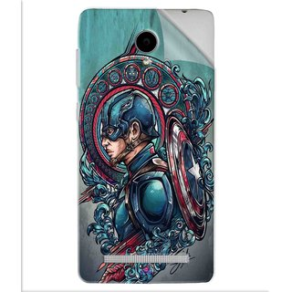 Snooky Printed Captain Ameria Avenger Pvc Vinyl Mobile Skin Sticker For Vivo Y28