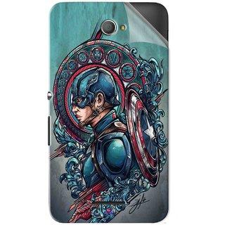 Snooky Printed Captain Ameria Avenger Pvc Vinyl Mobile Skin Sticker For Sony Xperia E4