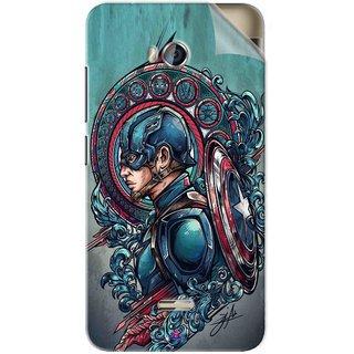 Snooky Printed Captain Ameria Avenger Pvc Vinyl Mobile Skin Sticker For Micromax Bolt Q336