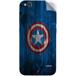 Snooky Printed Captain America Logo Pvc Vinyl Mobile Skin Sticker For LYF Water 2