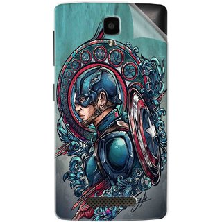 Snooky Printed Captain Ameria Avenger Pvc Vinyl Mobile Skin Sticker For Lenovo A1000