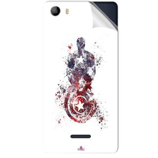 Snooky Printed Captain America painting Pvc Vinyl Mobile Skin Sticker For Micromax Canvas 5 E481