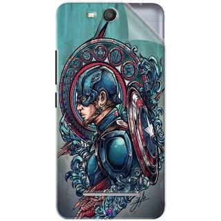 Snooky Printed Captain Ameria Avenger Pvc Vinyl Mobile Skin Sticker For Micromax Bolt Q392