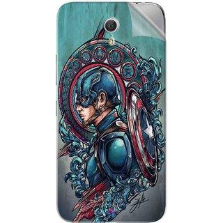 Snooky Printed Captain Ameria Avenger Pvc Vinyl Mobile Skin Sticker For Lenovo Zuk Z1