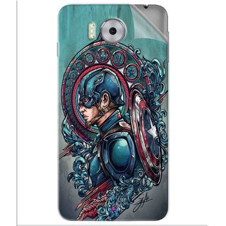 Snooky Printed Captain Ameria Avenger Pvc Vinyl Mobile Skin Sticker For Panasonic Eluga Note