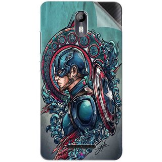 Snooky Printed Captain Ameria Avenger Pvc Vinyl Mobile Skin Sticker For Micromax Canvas Evok E483