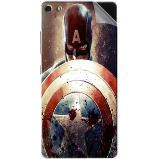 Snooky Printed Captain American Shield Pvc Vinyl Mobile Skin Sticker For Gionee Elife S7