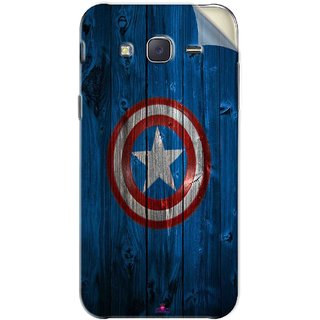 Snooky Printed Captain America Logo Pvc Vinyl Mobile Skin Sticker For Samsung Galaxy J5